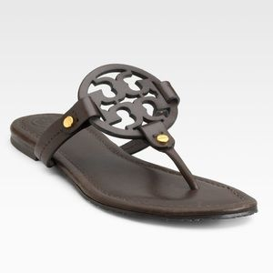 Tory Burch Miller Thong Leather Sandals Sz 9.5